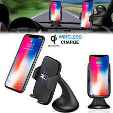 Qi Wireless Car Charger Holder Mount for iPhone X 8 8Plus Samsung S8 Plus Note 8