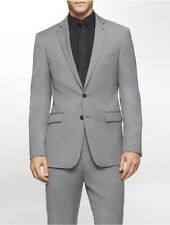 calvin klein mens body slim fit melange wool suit jacket