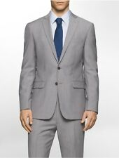 calvin klein mens body slim fit lightweight wool suit jacket