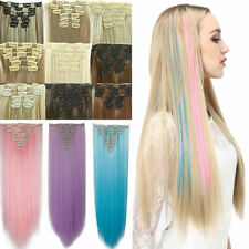 100% Real Thick Clip In Hair Extensions 8 Piece Full Head US Hair Extentions A85