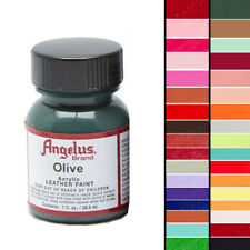 ANGELUS ACRYLIC LEATHER PAINT FOR PURSE LEATHER VINYL 1 OZ ALL 80 COLORS
