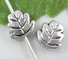 Free Ship 40Pcs Tibetan Silver Leaves Spacers Beads 7x3mm