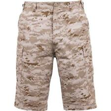 Digital Desert Camouflage - Military Long Cargo BDU Shorts - Polyester Cotton Tw