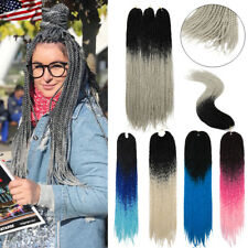 1-5 Packs Ombre Senegalese Twist Crochet Braids Colored Braiding Hair Extensions