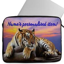 Wild Tiger Sunset Personalised Sleeve Tablet Laptop Universal Gift Case SH260