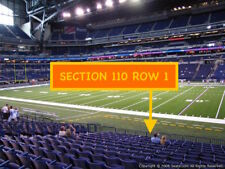 4 Front row Tennessee Titans at Indianapolis Colts tickets section 110 row 1