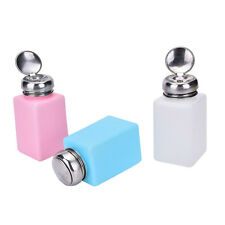 Empty Pump Dispenser Container Cleaner Nail Polish Removal Liquid 200mL Bottle、、