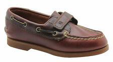 Timberland Toddlers Boat Shoes Strap Kids Slip On Brown Leather 25838 U3