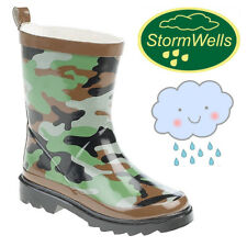 Stormwells 'Explorer' Kids Camouflage Wellington Boots Boys Girls Camo Wellies