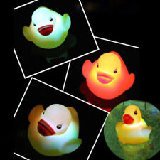 Rubber Baby Bath Time Fun Toys Changing Color Duck Flashing LED Light Lamp Lot