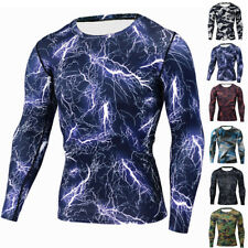 Men Compression Sports Apparel Skin Tights Base Under Layer T- Shirts Tops 2017