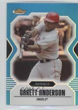 2007 Topps Finest Blue Refractor #122 Garret Anderson Los Angeles Angels Card