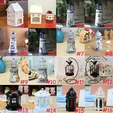 Home Garden Metal Lantern Light Candle Holder Hanging Decorative Lamp Light Box