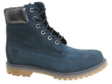 Timberland AF 6 Inch Premium Lace Up Navy Blue Leather Womens Boots A196M U131