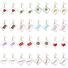 Fashion Women Cute Funny Cartoon Fruit Candy Heart Lollipop Drop Hook Earrings