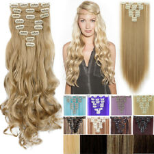 8 PCS 18 Clips Full Head Clip in Hair Extensions Real Quality 10% human hair AP9