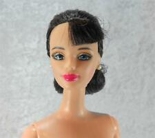 Brunette Barbie Chignon Hairstyle Nude Doll Mackie Face For Display