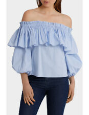 NEW Piper Off Shoulder Top with Full Sleeve Blues