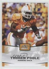 2012 Leaf Draft Gold #47 Tauren Poole Tennessee Volunteers Rookie Football Card