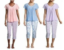 Adonna Womens Capri Pajama Set Short Sleeves size L XL 3X NEW