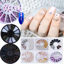 Nail Art Rhinestones Glitters Studs Beads Acrylic 3D Decoration Wheel Collection