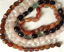 assorted Gem Stones 15x20mm Free Form Nugget Beads 16in. Strand