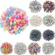 100pcs/lot Handmade Round Square Colorful Alphabet/ Letter Acrylic Beads
