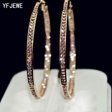 Earrings With Rhinestone Circle Earrings Simple Big Circle Hoop Earrings
