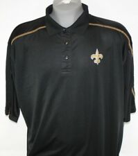 NEW Mens NFL Team Apparel New Orleans Saints TX3 Black Polo Golf Style Shirt
