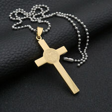 Fashion Women Men Stainless Steel Cross Necklace Pendant Chain Jewelry Gift