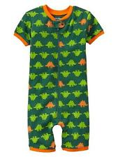 NWT BABY GAP Pajamas DINOS Dinosaur green short summer romper sleeper 6-12 twins