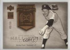 2005 Upper Deck Hall of Fame Seasons #HFS-WF1 Whitey Ford New York Yankees Card
