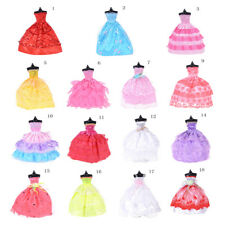 Handmade Party Gown Clothes Wedding Dress Outfits For Barbie Doll Random Gift US