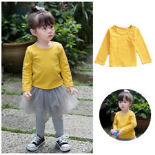 Cotton T-Shirt Autumn Long Sleeve Girl Clothes Blouse Tops Kids Cute Baby