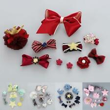 10Pcs/Set Kids Baby Girl Bow Boutique Hair Clips Flower Barrette Pins Gift Box