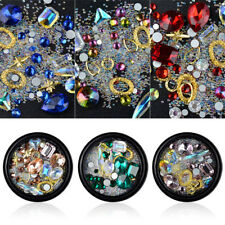 3D Nail Art Rhinestones Mix Glitters Colorful Acrylic Manicure Tips DIY Stickers