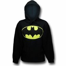 New Officially Licensed DC Comics Batman Symbol Men's Hoodie, Black Long Sleeves