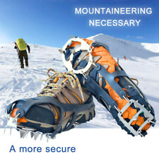 18 Teeth Claws Crampons Non-slip Shoes Cover Stainless Steel Ice Hiking Climbing