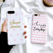 Fashion Stripe Dots Heart Back Cover Hard PC Phone Case For iPhone 6 6S 7 8 Plus