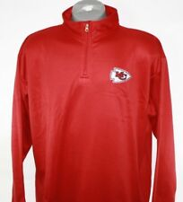 NEW Mens NFL Kansas City Chiefs Red Birdseye 1/4 Zip Football Pullover