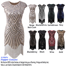 Womens Vintage 1920s Flapper Dress Great Gatsby Party Costume Evening Prom Gown