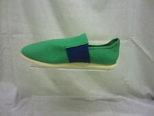 Mens Unbranded, Slip On, Canvas Shoe, Textile Upper,Green/Navy, A1072