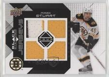 2008 Upper Deck Black Diamond Quad Jerseys BDJ-MA Mark Stuart Boston Bruins Card