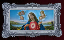 Holy Image Picture With Frame Baroque Reproduction Painting Jesus Christ Angel