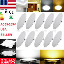 LED Recessed Dimmable Ceiling Panel Light DownLight Fixture Lamp Bulb Ultra Thin