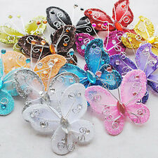 10pcs artificial Stocking Butterfly Wedding Christmas Decoration Birthday Party