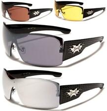 NEW BLACK SUNGLASSES CHOPPERS MOTORCYCLE MENS LADIES LARGE WRAP BIKER BIG UV400