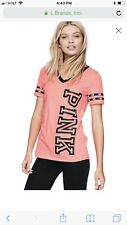 NEW Victorias Secret PINK Black Friday Perfect V neck Tee Shirt Top CORAL PINK