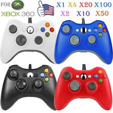 LOT 1-100pcs Wired Game Controller Joypad Gamepad for XBOX360 XBOX 360 Slim SE