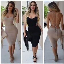 Bodycon Club Night Wear Dress Cocktail Evening Party Women Backless Bandage Sexy